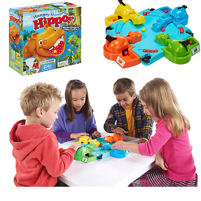 Frog Frenzy Board Game Children Kids Family Toy Xmas Gift Hungry Frogs Hippos