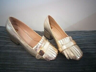 Girls Gold Heeled Shoes River Island Size 3