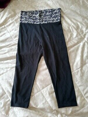 Victoria's Secret Sport Crop  Yoga Pants Black New  Without Tags Size Medium