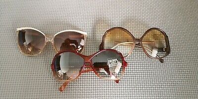 Vintage sunglasses lot 3 pairs Italy 1980's