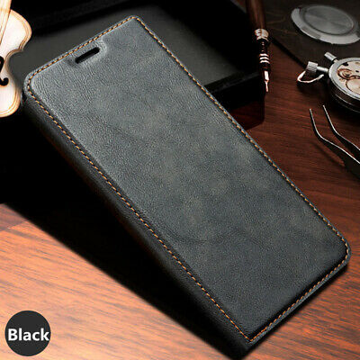 For Samsung Galaxy Note 10 Plus Black Flip Leather Card Wallet Stand Case Cover