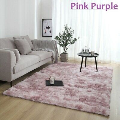 Home Bedroom Fluffy Rugs Anti-Skid Shaggy Area Rug Dining Room Carpet Floor Mat