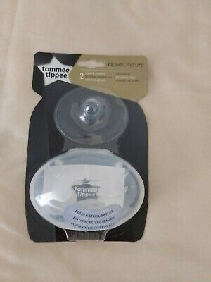 Tommee Tippee 2 Nipple Shields with Case new