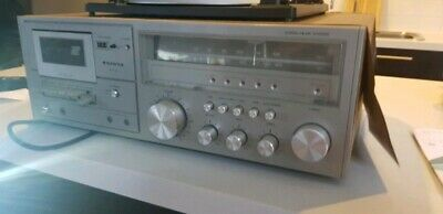 SANYO turntable, tape recorder, player, antique, old, cd, record,