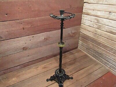Vintage Art Deco Standing Ashtray Stand Cast Iron Smoking Floor Stand Antique