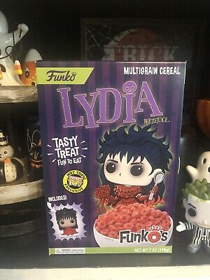 Funko Pocket Pop Cereal Lydia Beetlejuice Funko's Hot Topic Exclusive In Hand