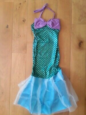 Girls Mermaid Fancy Dress Dressing Up Costume World Book Day Age 5-6
