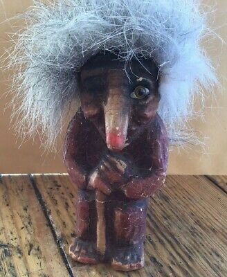 NyForm Troll Hand Made In Norway Elder Female with Walking Stick