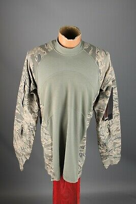 Men's NOS US Army Air Force Massif Airman Battle Shirt W Tags Size M Camo #7372