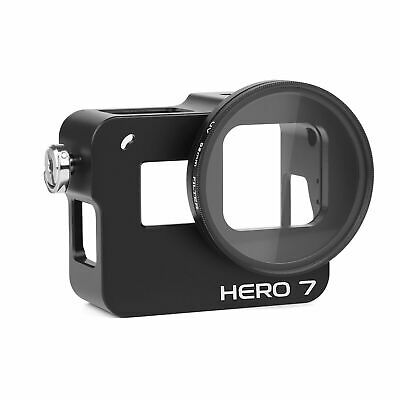 Camera Protective Case Cage Shell w/ 52mm UV Filter For GoPro Hero 7 6 5 Black