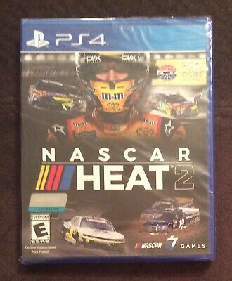 NEW Nascar Heat 2 PS4 PlayStation 4 Racing Race Cars 1 - 2 Players Driving Drive