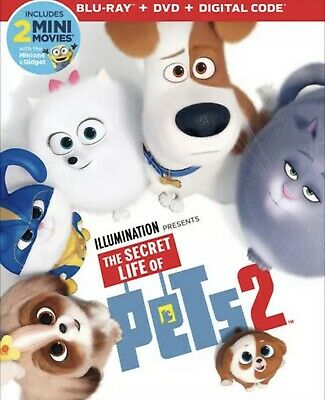 The Secret Life Of Pets 2(Blu-Ray+Dvd+Digital)W/Slipcover New Free Shipping