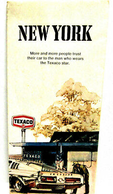 Vintage 1973 Texaco Oil Company Highway Map of New York State