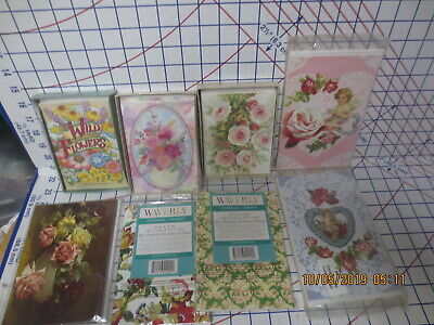 Do Gift Baskets?  8 sets Victorian Flowers Floral & Waverly Notecards & Journals