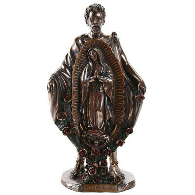 "10.25"" St Juan Diego Statue w/ Our Lady of Guadalupe Image Sculpture Catholic"