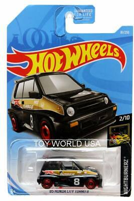 2019 Hot Wheels #81 Nightburnerz '85 Honda City Turbo II black