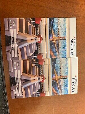 2 Delta Sky Club Pass - Expiration 12/31/19