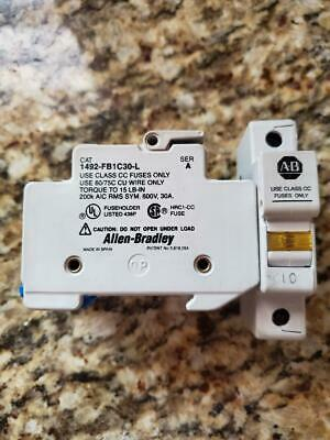 Allen-Bradley 1492-FB1C30-L Series A Fuse Holder Lot of 4
