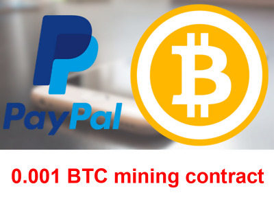 Bitcoin 0.001 BTC | MINING CONTRACT 24 Hours | Crypto asset