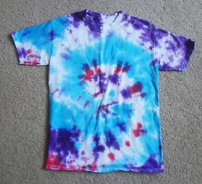Tie Dye T Shirt Handmade Tye Die 100 % Cotton Hanes Beefy Youth size Large