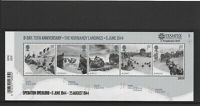 GB Autumn Stampex 2019 D Day limited issue miniature sheet