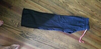 Ladies Leisure Pants black in color with drawsting.  Wide leg size small.