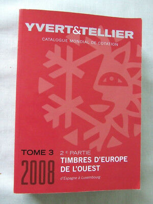 STAMPS OF WESTERN EUROPE 2008 (FRENCH) by YVERT & TELLIER, EXCELLENT