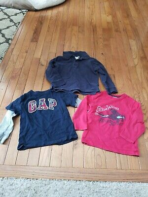 LOT 3 Toddler Boys 4t Shirts Gap, gymboree air plane, janie and jack navy red