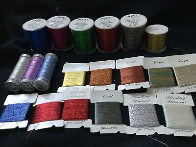 IMPEX GUTTERMANN Metalic Embroidery Threads Job Lot
