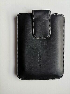 """5"""" Real Leather Garmin Sat Nav GPS Carry Protective Storage Case Cover Pouch Bag"""