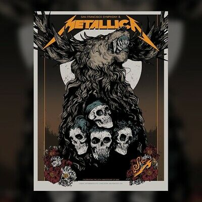 Metallica San Francisco Poster Chase Center Poster Night 2 S&M2 209/670with tube