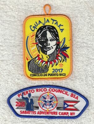 A9332 24th WORLD SCOUT JAMBOREE 2019 - PUERTO RICO COUNCIL CSP & PATCH