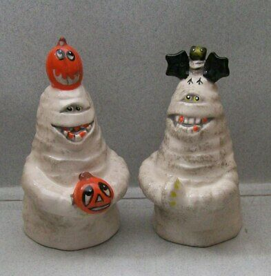 Halloween Ghoul Ish Mummy Monster By Blue Sky Salt & Pepper Shakers Bs Aa