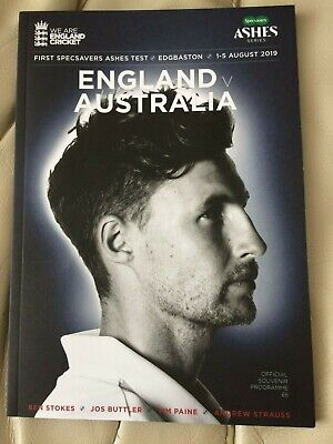 ASHES TEST 2019 PROGRAMME (EnglandvAustralia) 1-5 August 2019. FIRST, SPECSAVERS