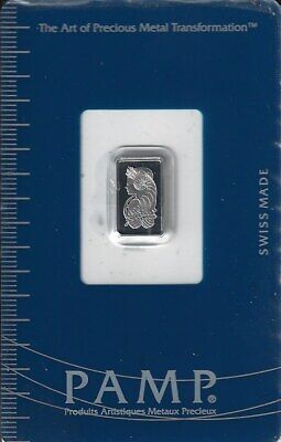Pamp  1 Gram  Platinum Bar  999.5  Sealed Certified Assay