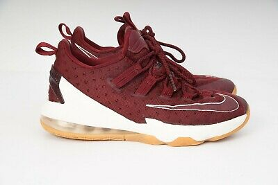 Nike Lebron XIII Low (GS) Team Red/Sail-Gum/Light Brown Basketball Boots Shoes