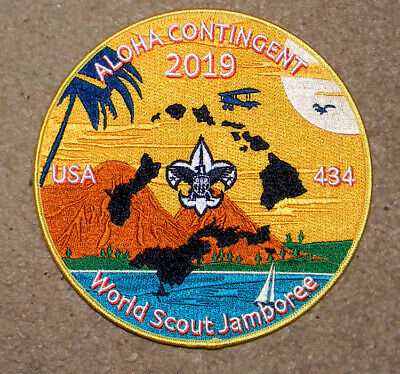 """Aloha Council 2019 World Jamboree """"CONTINGENT"""" Back Patch - Tough Issue - HAWAII"""