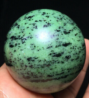 289g Natural Green Ruby zoisite crystal healing ball reiki sphere stone Q506
