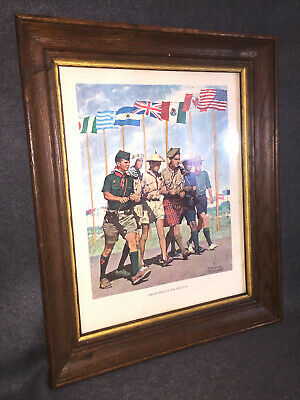 """A9319 24th WORLD SCOUT JAMBOREE 2019  NORMAN ROCKWELL """"Breakthrough for Freedom"""""""