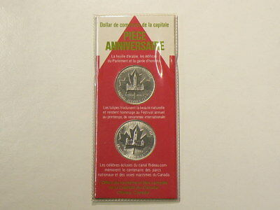 🍁 1984 1985 Canada Ottawa Capital $1 Dollar Commemorative Issue #1319