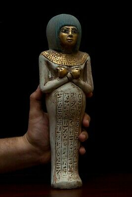 EGYPT EGYPTIAN ANTIQUES STATUE Beautiful Ushabti HIEROGLYPHS Shabti STONE BCE