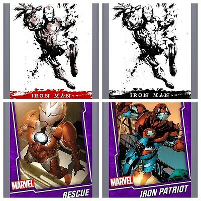 Topps Marvel Collect Card Trader Splash Paintings Iron Man Red And Black