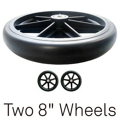 "2 x 8"" Rollator Replacement Wheels Wheelchair 8 Inch Walker Front Rear New"