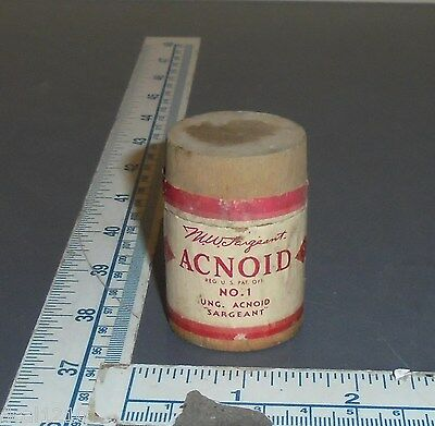 medicine wood box bottle sargeant's acnoid