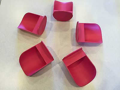 Tupperware New Rnd Flour Rocker Scoop Scoops Hot Pink Set Of Five