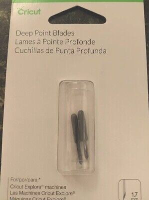New! Cricut Deep Point Blades 1.7mm - Black  ONE Pack of TWO