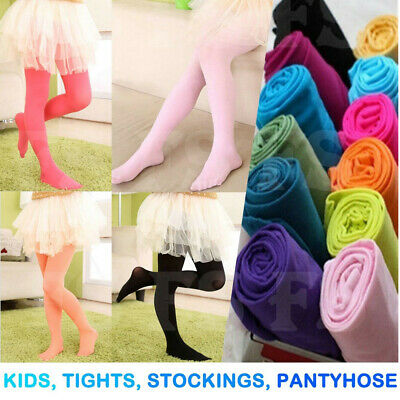 Girls Baby Kids Tights Pantyhose Stockings Leg Hosiery Ballet Dance Opaque 4-12T