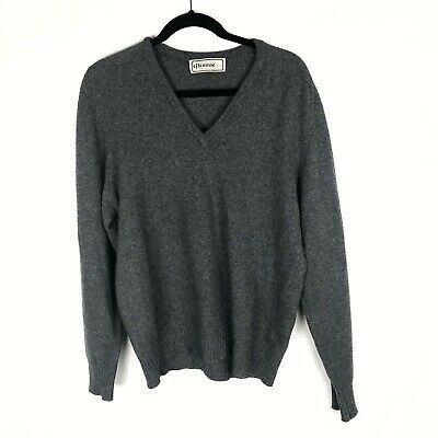 Vintage Glenmac 100% Cashmere Gray Sweater Made in Scotland