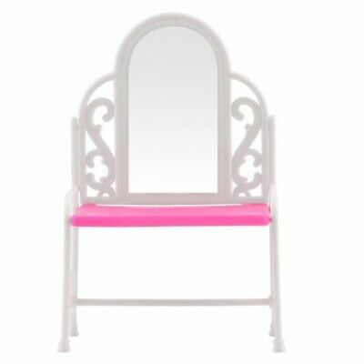 Dressing Table & Chair Accessories Set For Barbies Dolls Bedroom Furniture V1Z7