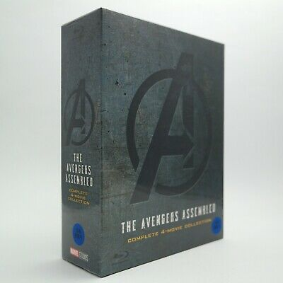 (Presale) The Avengers Assembled - Blu-ray Complete 4-Movie Collection Box Set